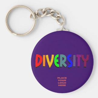 Diversity Custom Dark Indigo Keychain