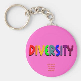 Diversity Custom Hot Pink Keychain