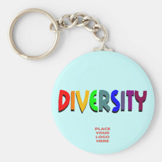 Diversity Custom Ice Blue Keychain