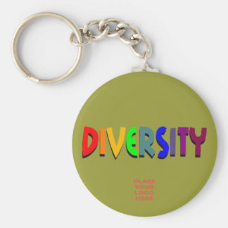 Diversity Custom Military Green Keychain