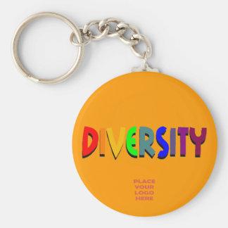 Diversity Custom Orange Keychain