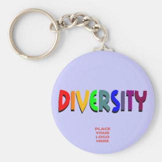 Diversity Custom Periwinkle Keychain