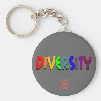 Diversity Custom Platinum Keychain