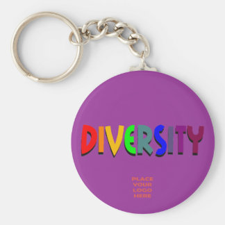 Diversity Custom Purple Keychain