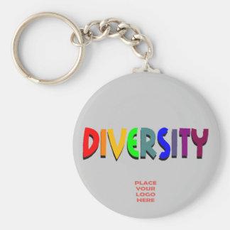 Diversity Custom Silver Keychain