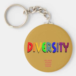 Diversity Custom Tan Keychain