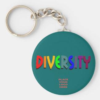 Diversity Custom Teal Keychain