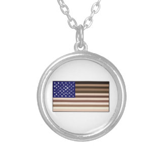 Diversity Flag Silver Plated Necklace