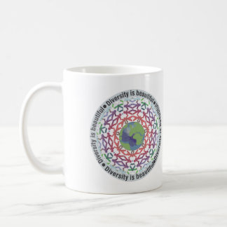 Diversity is beautiful coffee mug