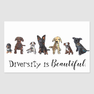 Diversity is beautiful rectangular sticker