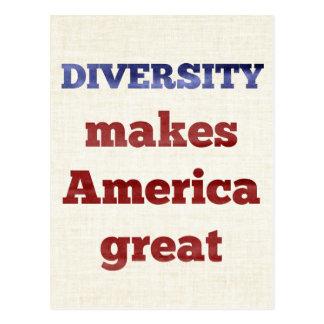 DIVERSITY Makes America Great Postcard