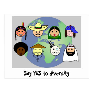 'Diversity' postcard