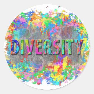 Diversity. Round Sticker
