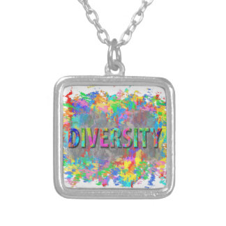 Diversity. Silver Plated Necklace