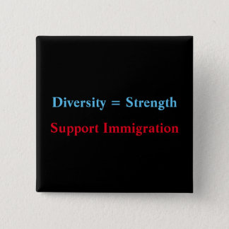 diversity=strength 15 cm square badge