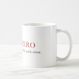 Divide By Zero mug - Stack Error