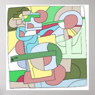 Divided Color Blocks Poster