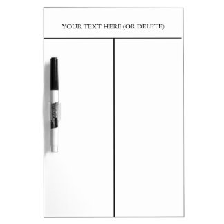 Divided Dry-erase Board-Customise Text. Dry Erase Boards