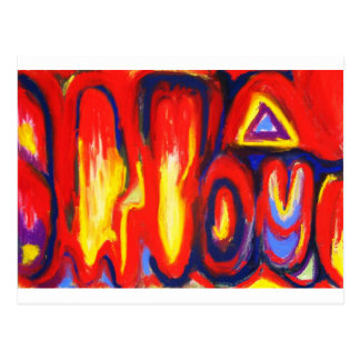 Divided Flames (abstract expressionism) Postcard