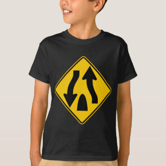 Divided Highway Ends Highway Sign T-Shirt