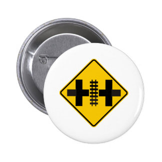 Divided Highway Intersection with Rail Crossing Buttons