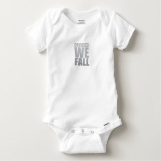 DIVIDED WE FALL BABY ONESIE
