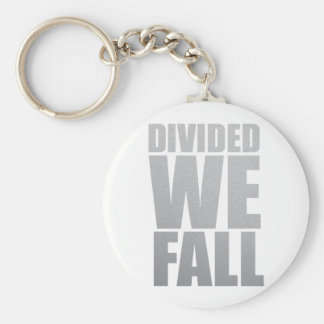 DIVIDED WE FALL BASIC ROUND BUTTON KEY RING