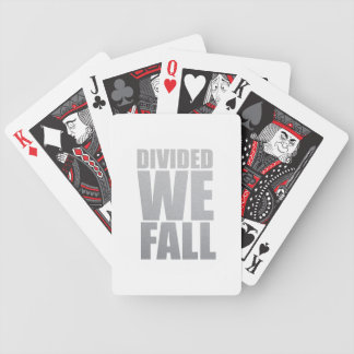 DIVIDED WE FALL BICYCLE PLAYING CARDS