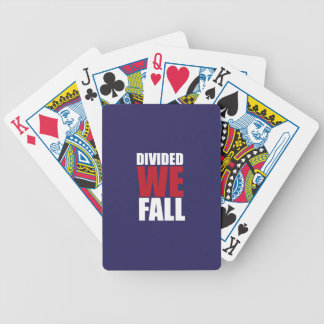 Divided We Fall Patriotism Quotes Bicycle Playing Cards