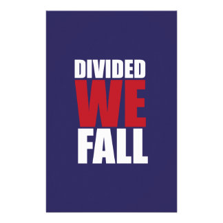 Divided We Fall Patriotism Quotes Customized Stationery
