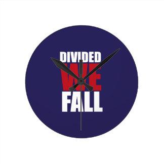 Divided We Fall Patriotism Quotes Round Clock