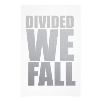 DIVIDED WE FALL STATIONERY