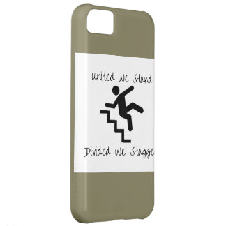 Divided We Stagger Cell case, iPhone 5c iPhone 5C Case