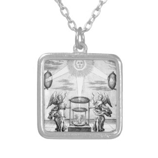 Divine Arcana of Alchemy Silver Plated Necklace