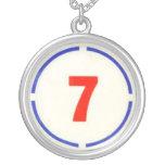 Divine Circle 7-Large Pendant Silver Necklace