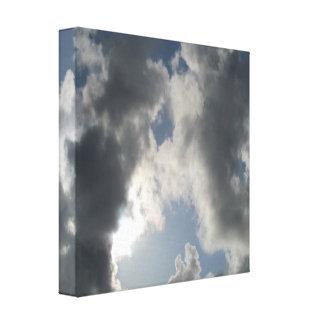 Divine Connection Cloudy Sky Canvas Canvas Print