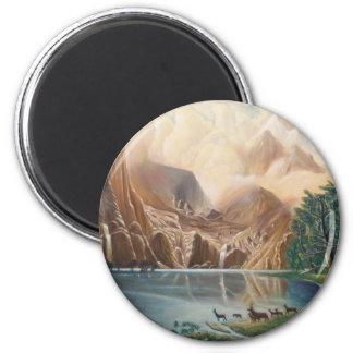 Divine Deer Lake.jpg 6 Cm Round Magnet