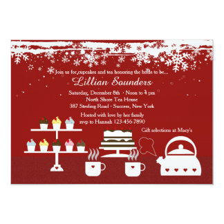 Divine Desserts Winter-Theme Invitation