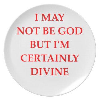 divine dinner plate