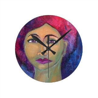 Divine Feminine Lola Round Clock