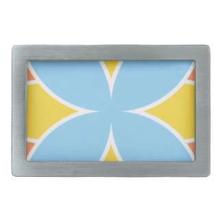 Divine Flower Rectangular Belt Buckle