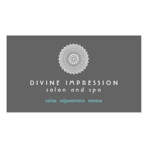 Divine Impression Blue 2 Business Card Template