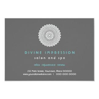 Divine Impression Blue Gift Certificate 9 Cm X 13 Cm Invitation Card