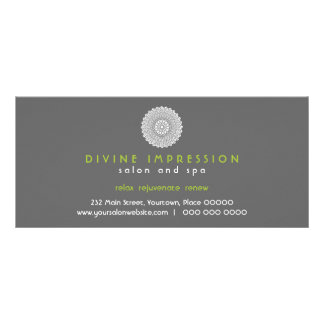 Divine Impression Green Gift Certificate 10 Cm X 23 Cm Rack Card