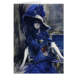 Divine in Blue Greeting Card