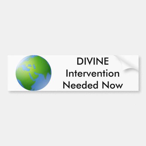 Divine Intervention Bumper Sticker