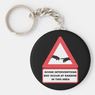 Divine Interventions Basic Round Button Key Ring