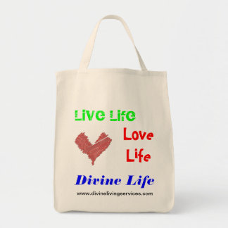 Divine Living Services Organic Tote Grocery Tote Bag