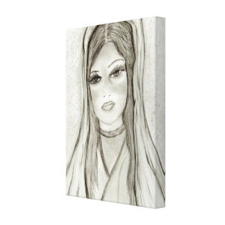 Divine Mary Canvas Print