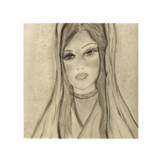 Divine Mary Wood Print